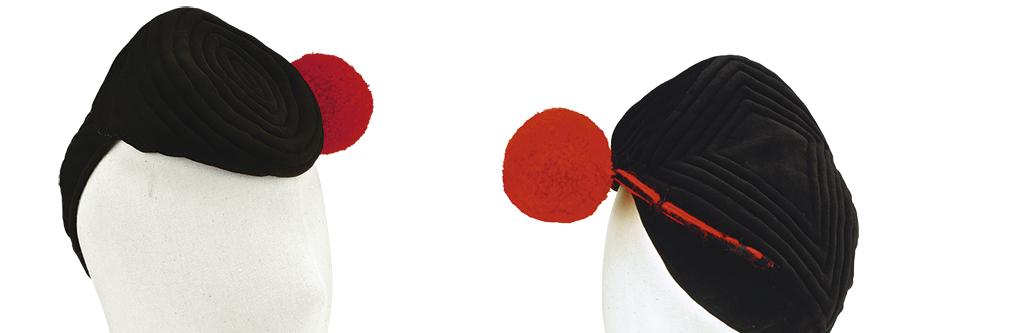 Sombrero femenino, envoltorio para el rostro